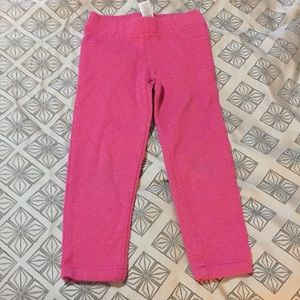 Girls 4T hot pink sparkle leggings